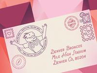 Broncos Bunch Valentine's Email Header Concept