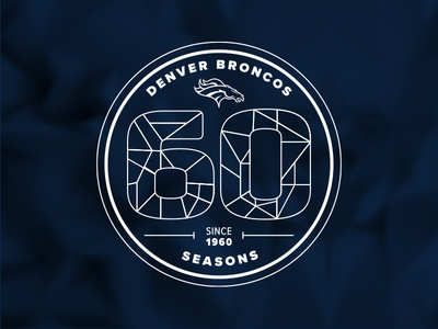 Denver Broncos 60th Season Logo Concept