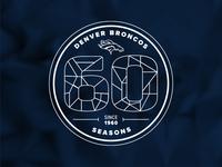 Denver Broncos 60th Season Logo Concept