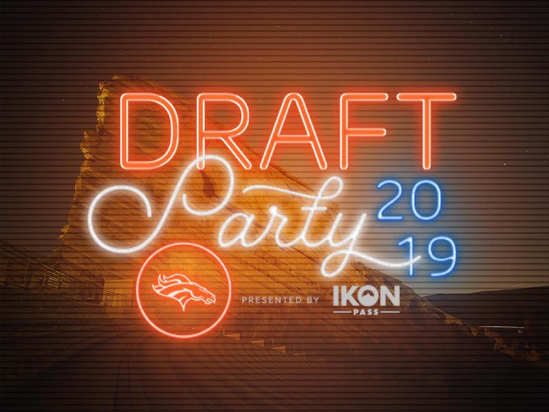 Denver Broncos 2019 Draft Party 2019 logo co colorado red rocks neon sign neon ikon party sports nfl draft broncos denver denver broncos