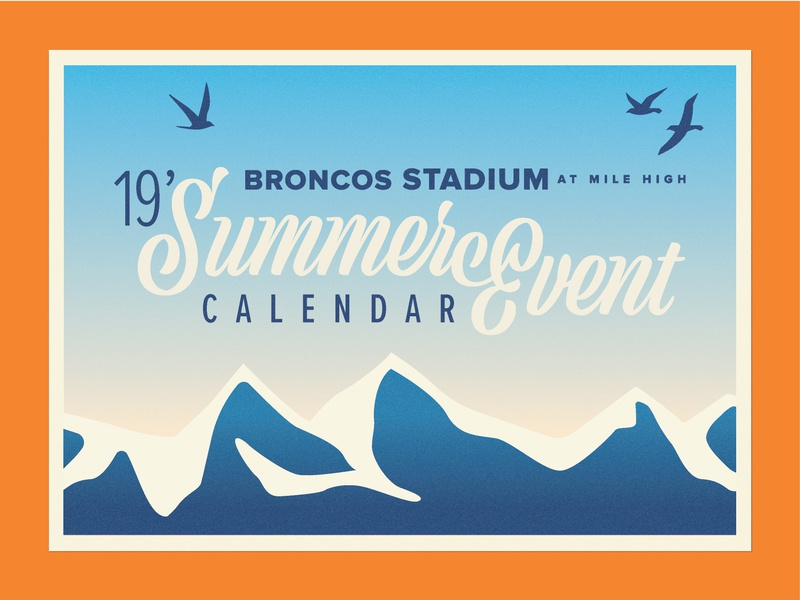 Broncos Stadium Summer Events 2019 nfl co colorado graphic 19 stadium mountains orange denver denver broncos 2019 events broncos summer