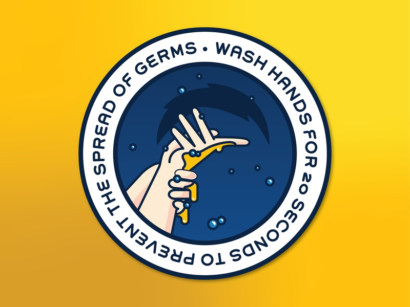 NFL Anti-Germs Graphic Stickers (Chargers) hand sign shadow puppet los angeles chargers pun vector hygiene sports wash hands illustration graphic germs football nfl