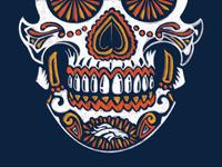 Broncos Fanaticos Sugar Skull
