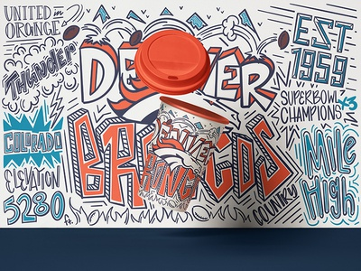7Eleven Denver Broncos Cup Illustration