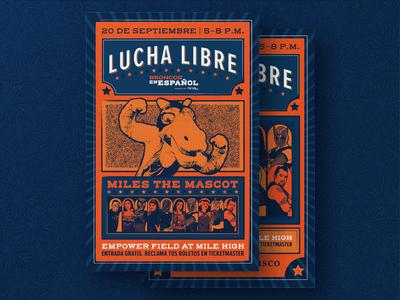Lucha Libre Poster for Broncos En Español
