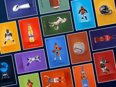Broncos Fanáticos Lotería Cards