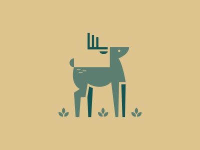 Cerf leoalexandre illustrator primitive vector art logodesign artwork nature design wildlife vector minimal logo animallogo animal raindeer reindeer bambi biche dear cerf