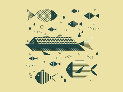 Poissons zixidi abyss waves bubble lineart design leo alexandre illustration wildlife nature minimal graphicdesign underwater beach national park sea fish logo poisson fish