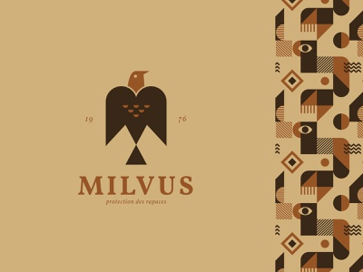 Milvus raptor adobe illustrator alexandre leo pattern eyes nature minimal illustration zixidi leo alexandre animal logodesign ethnic vector wildlife eagle logo bird logo brandidentity branding design