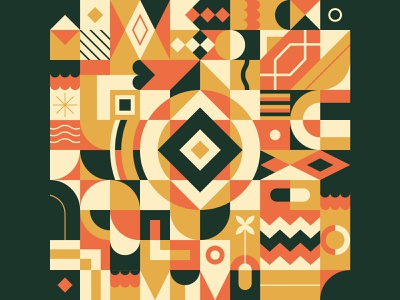 Geometric pattern N°6 gold luxurious tribal graphicdesign zixidi leo alexandre minimal design vector vector illustration geometric pattern ethnic pattern repeat pattern loop motif patterns pattern geometric art geometry geometric design