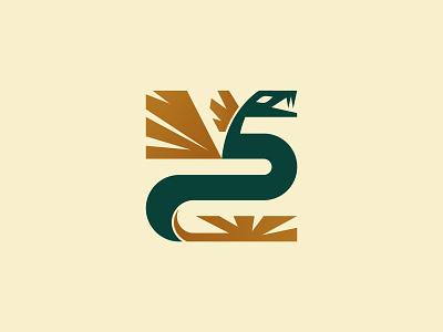 Quetzalcóatl design branding geometric logo vector ethnic tribal savage primitive primal feather snake bird dagon dragon mexico inca maya quetzalcoatl quetzal
