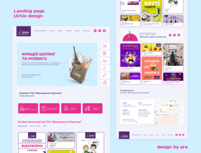 Landing page branding mall photoshop figma website web ux ui landing graphic design