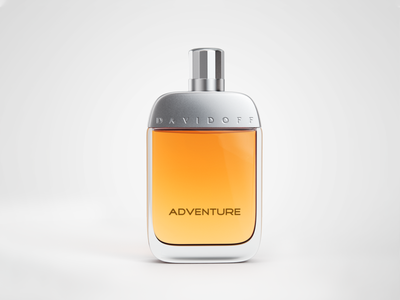 Davidoff Adventure (EdT) orange product visualization 3d rendering