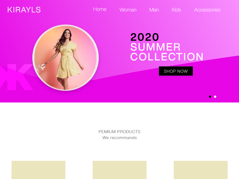 Shopping website fashion website clothing company flat web simplicity illustration landing page minimal branding design website design shopper shopping shopping website