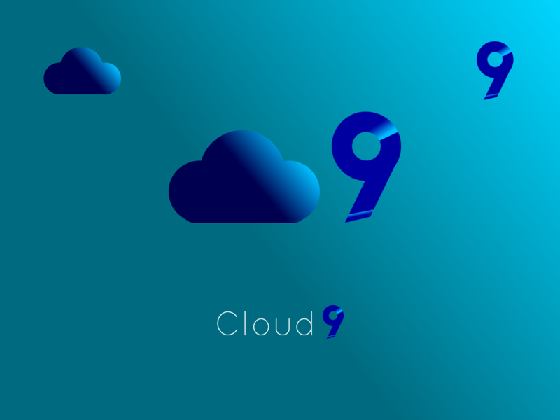 Cloud9 logo flat icon logo illustration minimal branding simplicity popular design popular shot popular topdesigner clouds cloud computing