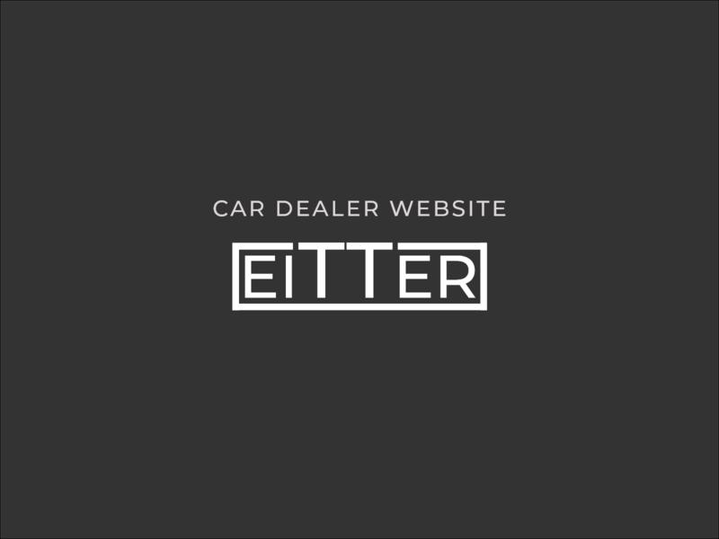 Eitter logo design top logos logo design branding dealers car dealership car dealer car shop brand brand design brand identity web typography design minimal branding simplicity logo logo design concept logo designer logo design logodesign