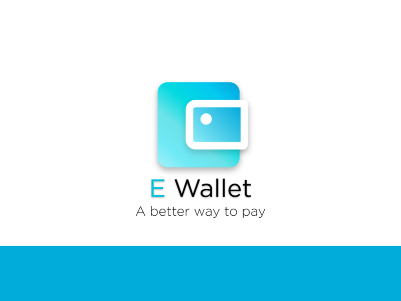E wallet -A better way to pay wallet wallet logo wallet app icon icon set logo mark payment form logo design branding logo designer logo design typography design illustration logo minimal branding simplicity money transfer payments payment app