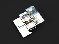 Tourist Trends - App Design travelling guide hostel booking app app concept top app designs traveling logo design hotel app app design minimal simplicity hotel booking food app tourism travel travel app app ui ui app design
