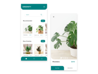 Plant app UI clean ui top ux ui designer simple clean interface simple design nursery plant app ui app flat design illustration minimal simplicity app ui plants