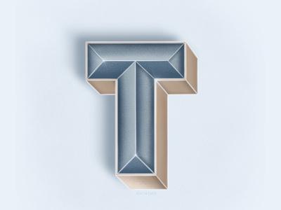 Letter T logo 3d lettering calligraphy texture procreate digital lettering digital illustration lettering letters typogaphy poster design