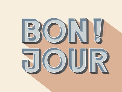 Bonjour logo letters poster design french digital lettering procreate calligraphy typogaphy design digital illustration lettering