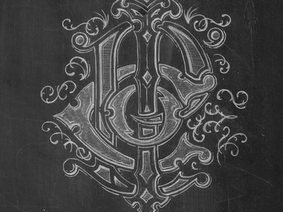 P.I.C.O. Mono lettering pencils hand drawn monogram
