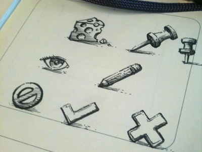 Sketchy icons illustration icons sketch