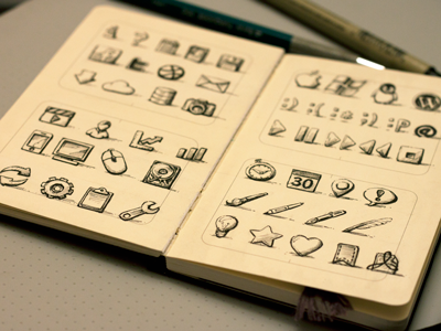 Sketchy Icons The Third sketch icons illustration hand drawn