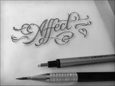 Toodles 41: The Long Winter toodles script hand drawn pencils lettering sketch