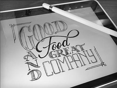 Toodles 43 - iPad Pro edition toodles procreate ipad pro apple pencil hand drawn lettering