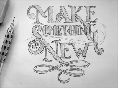 Toodles 44 - Make Something ipad pro procreate toodles sketch pencils hand drawn lettering