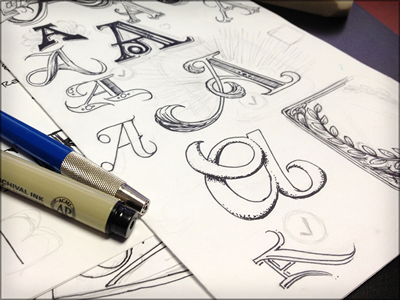 Toodles 13: A Exploration sketch drawing illustration doodle toodles lettering hand drawn