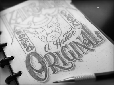 Toodles 146: A Houston Original toodles hand drawn pencils lettering sketch