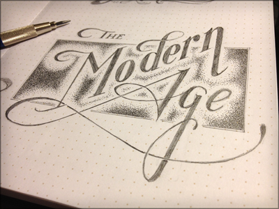 Toodles 25: The Modern Age sketch illustration hand drawn pencils lettering toodles