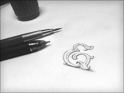 Toodles 26: Drawpersand pencil sketch drawing illustration doodle toodles lettering hand drawn ampersand