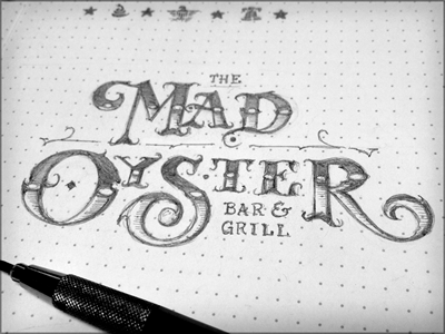 Toodles 30: The Mad Oyster sketch illustration hand drawn pencils lettering toodles