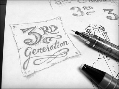 Toodles 35a: 3rd gen toodles lettering pencils hand drawn illustration sketch