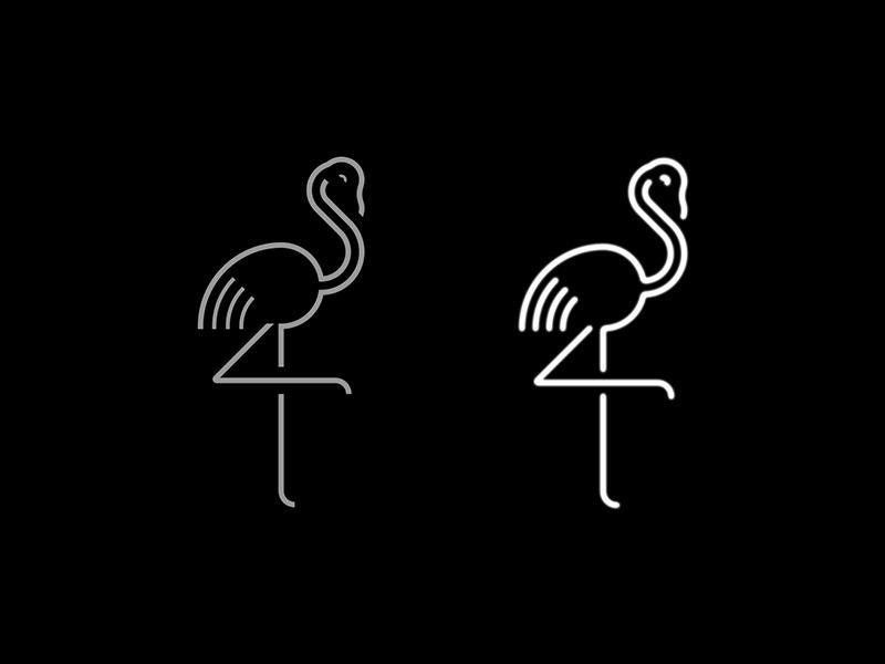 Black Flamingo signage logo branding