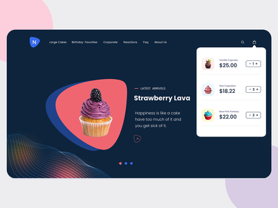 Online store to sell Cakes and Pastries. ecommerce business ecommerce design ecommerce shop ecommerce app cakeshop pastries ui online store commerce online store cakes cake