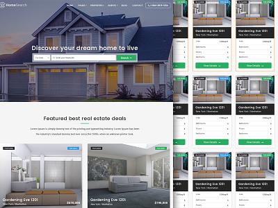 Homesearch - A premium RealEstate PSD template realestate directory realestate agent home search theme template realestate psd template themeforest psd theme premium theme