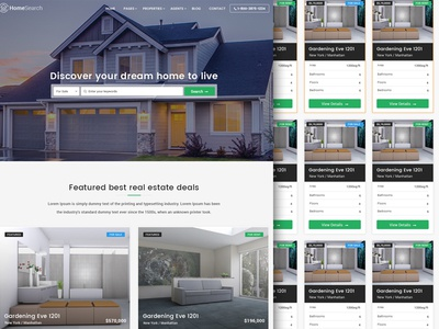 Homesearch - A premium RealEstate PSD template
