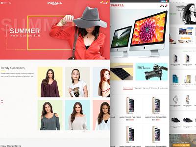 Pasall - A modern eCommerce PSD template online shopping sites web design flat design themeforest ecommerce template ecommerce psd template online shop modern clean woocomerce shop ecommerce
