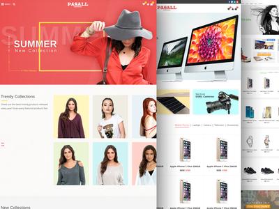Pasall - A modern eCommerce PSD template
