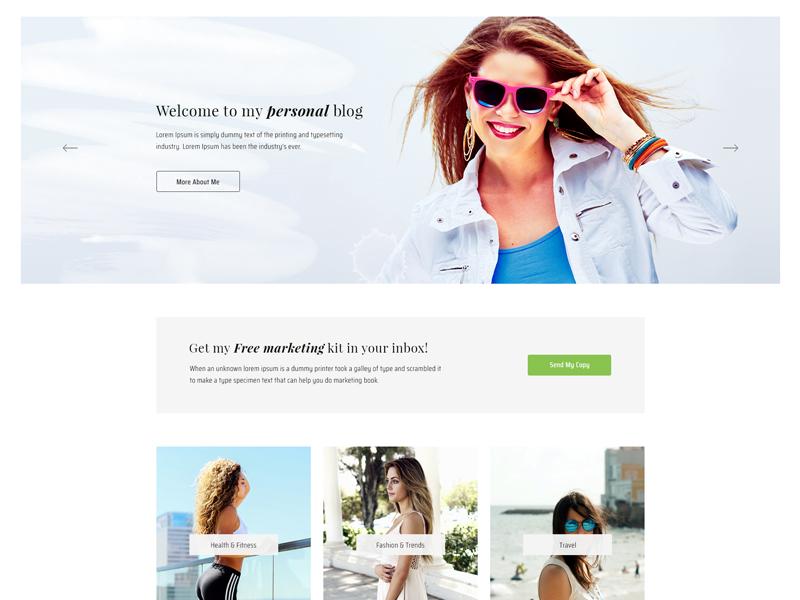 Blog Template (WIP) minimal blog template minimal design web design psd psd template themeforest template blogger blog