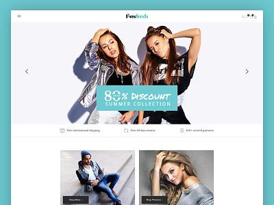 Faslush - A Modern & Minimalistic eCommerce PSD Template woocommerce psd template online store online shop minimal fashion template fashion store fashion boutique fashion elegant ecommerce clothing
