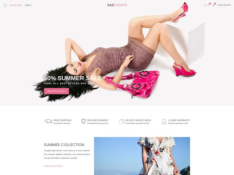 Rab Fashion fashion store rab woocommerce shopping shop responsive online store modern fashion ecommerce bootstrap