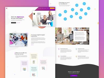 Responsive Pixel site design landing page design design studio designer wordpress wordpress design design agency mockup uiux homepage responsive web design