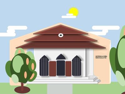 Mushala Iqra branding vector design illustration animation