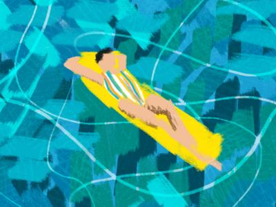 Floating summer ocean floating sea
