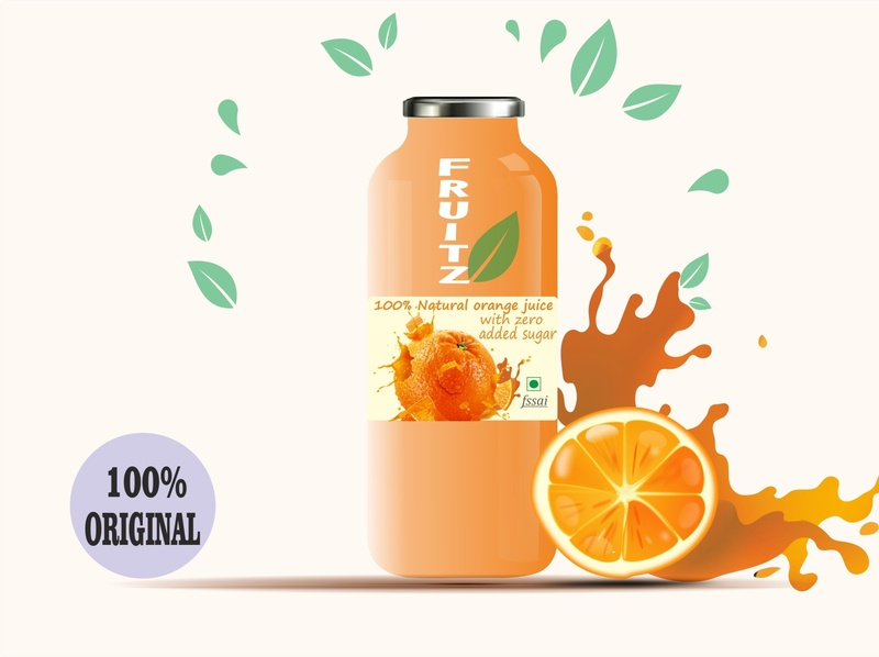 juice bottle design corel draw